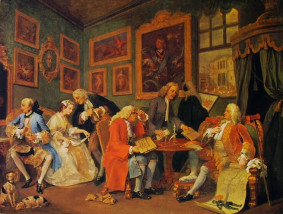 Hogarth, Il contratto, National Gallery, Londra.